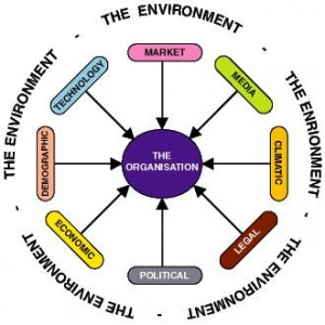 The sum total of all things external to firms and industries that affect the functioning of the organization is called Business Environment.