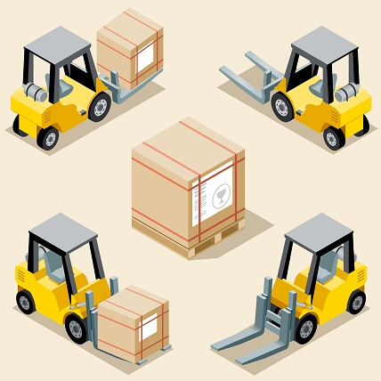 forklifts used in materials handling
