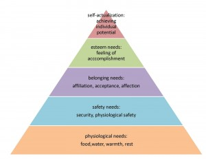 Physiological, Safety, Security, Esteem Needs and Self Actualization