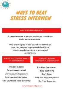 Ways to beat Interview stress