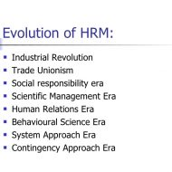 Evolution and Growth of Human Resource Management