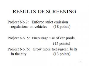 project screening