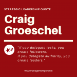 Strategic leadership quote