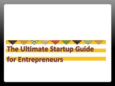 The startup guide