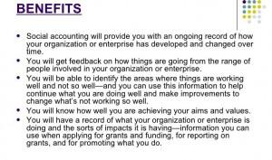 Benefits of Social Accounting