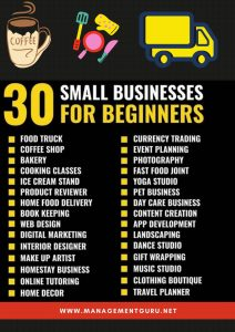 30 small business for beginners