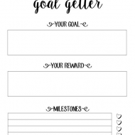 Free Goal Setting Printables with Motivating Quotes