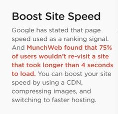 Boost site speed