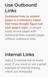 Outbound and Internal Links