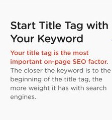 Title tag with keyword