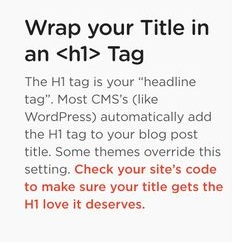 Wrap your title in H1 tag