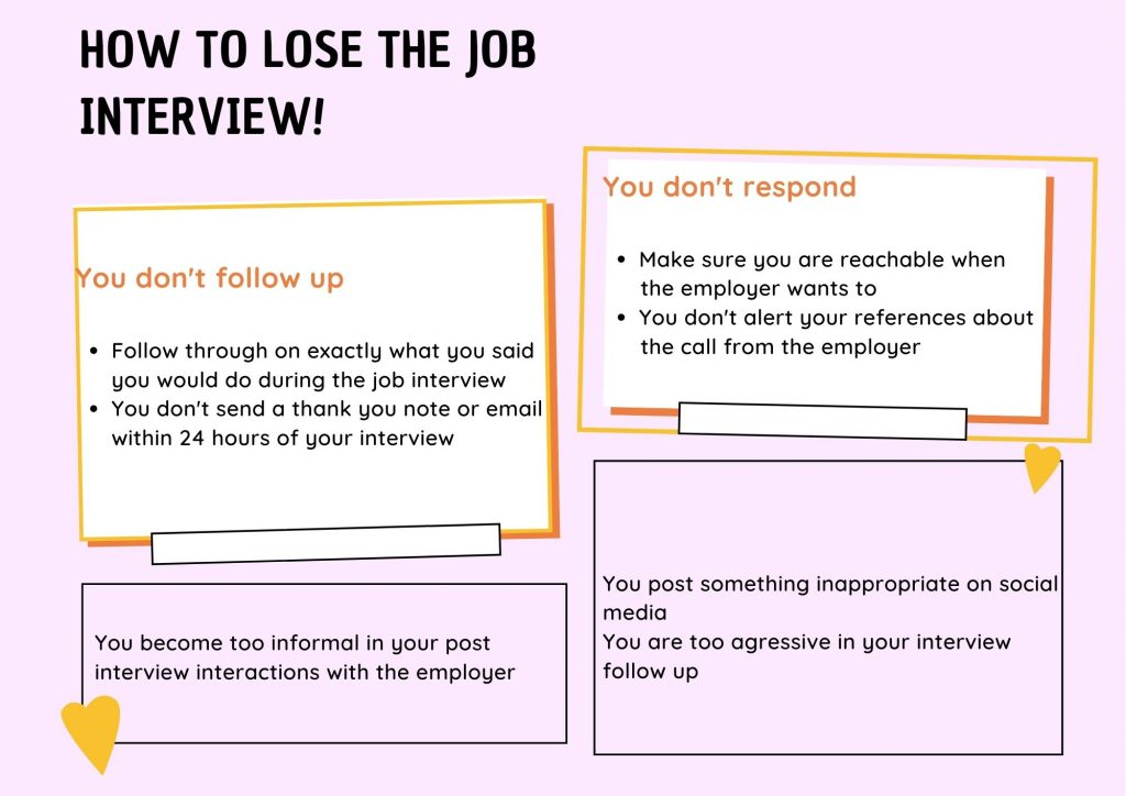How to lose the job interview?