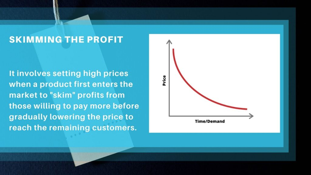 What is skimming the profit?