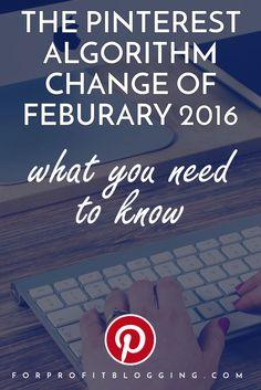 PINTEREST ALGORITHM CHANGE 2016