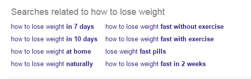 long tail keywords for weight loss