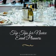 Top Tips for Novice Event Planners